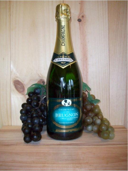 Philippe Brugnon Premier Cru Cuvee Elegance Non Vintage Champagne Dry (Brut)