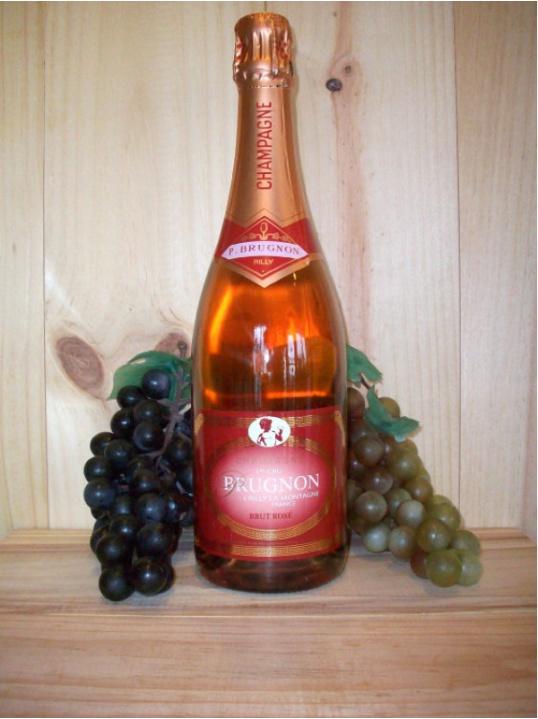 Philippe Brugnon Premier Cru Non Vintage Rosé Champagne Dry (Brut)