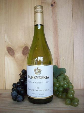Echeverria Estate Unwooded Chardonnay Reserva White 2018