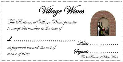 Village Wines Gift Voucher Example